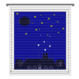 Window with jalousie and night city vector Stock Image