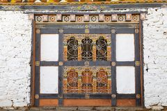 Window at the Jampey Lhakhang temple, Chhoekhor, Bhutan Royalty Free Stock Photos
