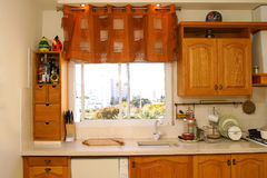 Window and kitchen Royalty Free Stock Photo