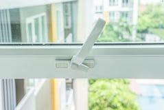 Window knob. Condominium white window knob style Stock Images