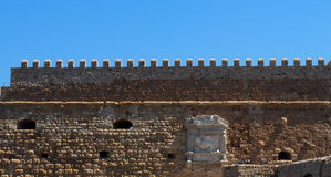 Window At Koules Fortress In Heraklion Greece Royalty Free Stock Images