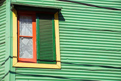 Window in La Boca, Buenos Aires Royalty Free Stock Photography