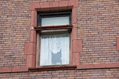 Window with lace curtains Royalty Free Stock Image
