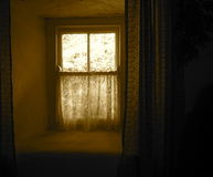 Window With Lace Curtains In Ireland Stock Photos