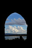 Window on the lake Stock Image