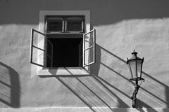 Window and lamp Stock Image