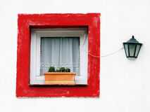 The window and the lamppost Stock Images