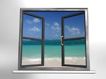 Window and landscape Royalty Free Stock Photos