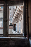 Window. Landscape from an ancient window in rome Royalty Free Stock Images