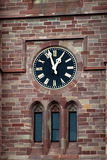 Window and a large clock Royalty Free Stock Images