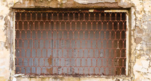 Window with lattice in old building Royalty Free Stock Photography