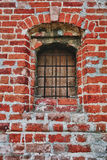 Window lattice to brick wall Royalty Free Stock Photography