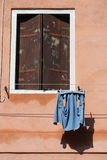 Window and laundry Stock Photos