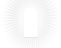 Window of light. Arched window over heavenly background Royalty Free Stock Photography