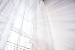 Window and light. Window bathed in the bright white light Stock Images