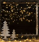 Window, Lights In Night, Fairy Lights Royalty Free Stock Images