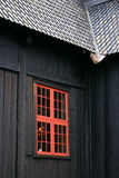 Window of the Lom Stave Church Stock Images