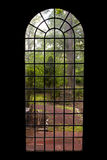 Through the Window. A look at the grounds of Kips Castle in Verona New Jersey Royalty Free Stock Photo