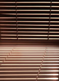 Window with louvers Stock Photo