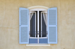 Window with louvre doors Royalty Free Stock Images