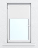 Window with lowered roller blind. 3d rendering Royalty Free Stock Photos