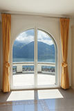 Window of a luxury house Royalty Free Stock Image