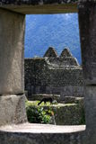 Window on Machu Picchu Royalty Free Stock Image