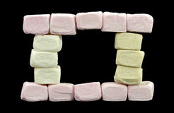 Window made of marshmallows Stock Images