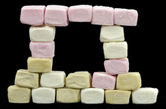 Window made of marshmallows Royalty Free Stock Photography