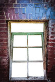 Window made of red bricks Royalty Free Stock Photos