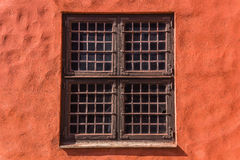Window of Malmo Castle. ( Malmöhus) in Malmo, Sweden. Old fortress founded in 1434 by King Eric of Pomerania, demolished and rebuilt in early 16th century Royalty Free Stock Photo