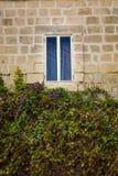 Window on the Maltese  house. Malta island,  Mediterranean sea Stock Images
