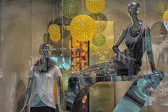 Window with mannequins Stock Image