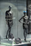 Window with mannequins Royalty Free Stock Photo