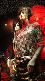 Window Mannequins. Two mannequins displaying leather dresses in a Christmas window of a large department store in Paris, France Stock Photos