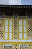 Window of Masjid Ihsaniah Iskandariah at Kuala Kangsar Royalty Free Stock Photography