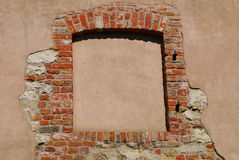 Window of a medieval building Royalty Free Stock Images