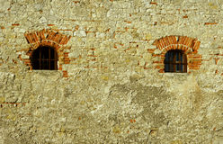 Window in medieval castle Royalty Free Stock Photography