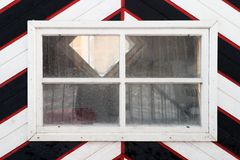 Window in medieval custom house Royalty Free Stock Image