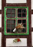Window of medieval house. Royalty Free Stock Photo