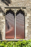Window of a medieval palace, Barcelona Royalty Free Stock Photo