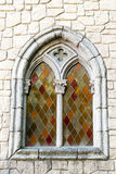 Window in medieval style. Stock Photo