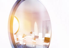 Window with meeting room view Royalty Free Stock Images