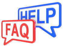 Window of the message  HELP and FAQ Royalty Free Stock Images