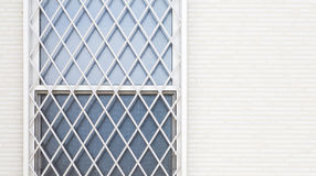 Window and metal baluster. With white modern wall stock images