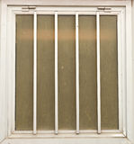 Window with metal frame, background Royalty Free Stock Image
