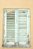 Window with mint shutters Royalty Free Stock Photography