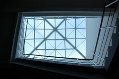 Window in modern business center Royalty Free Stock Photo