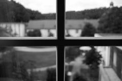 Window in monastery. Window in the monastery Benediktushof Holzkirchen Royalty Free Stock Photos
