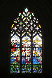 Window mosaic. Detail at Batalha Monastery Stock Photo